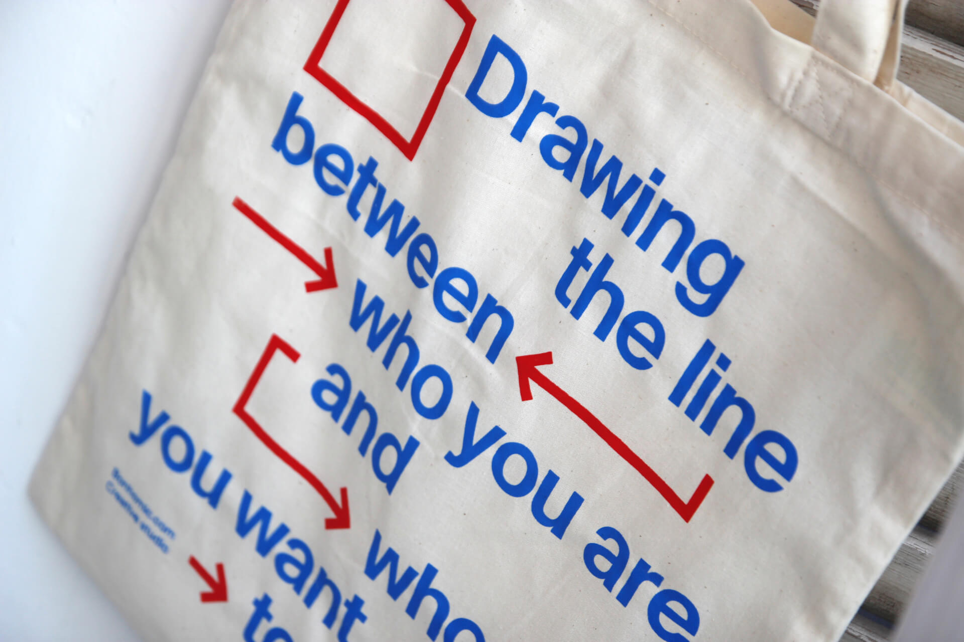 Handprinting Tote Bags for the Anniversary of the creative studio Bonhomic