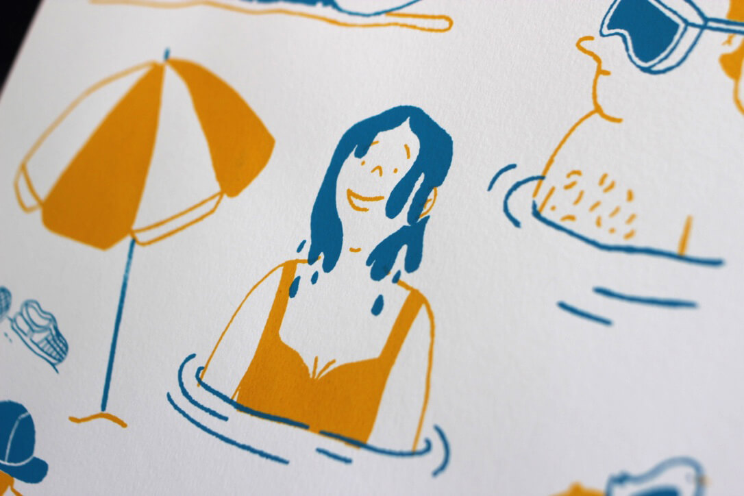 "Handprinting ""Mediterráneo"", a summer creation of the illustrator Rocío Ledesma"